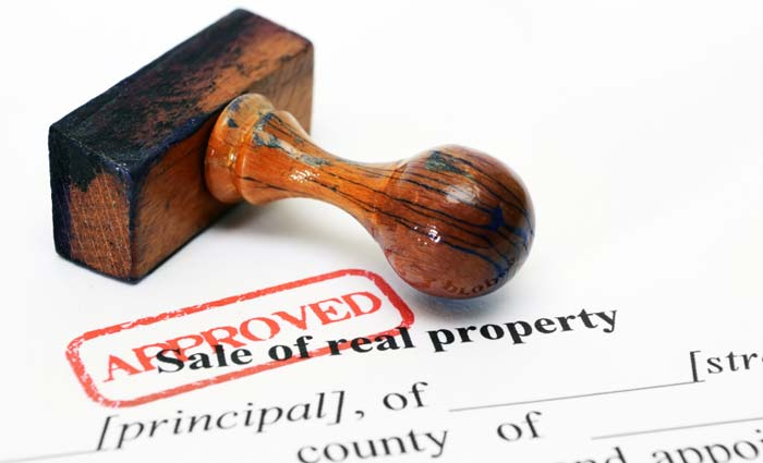 Image of Approved Sale of real property